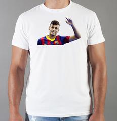 Футболка с принтом Неймар (Neymar) белая 005