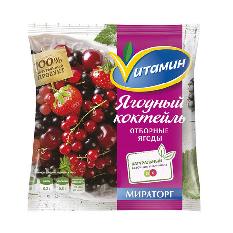 """Ягодный коктейль  с/м """"Vитамин"""" 300 г"""