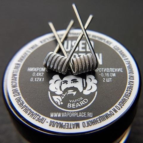 Fused Clapton Vapor Beard (NiCr 0,4х2 NiCr 0,12) 3мм 0,16 Ом