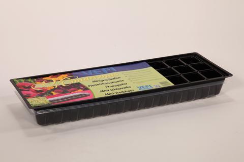 Мини Парник MS2 60х22 см +30 горшков, с крышкой черный