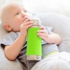 Детская стальная бутылочка-поильник Pura Kiki 325 мл (6+)