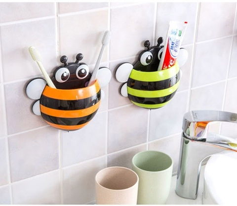 Держатель для зубных щеток Пчёлка на присосках