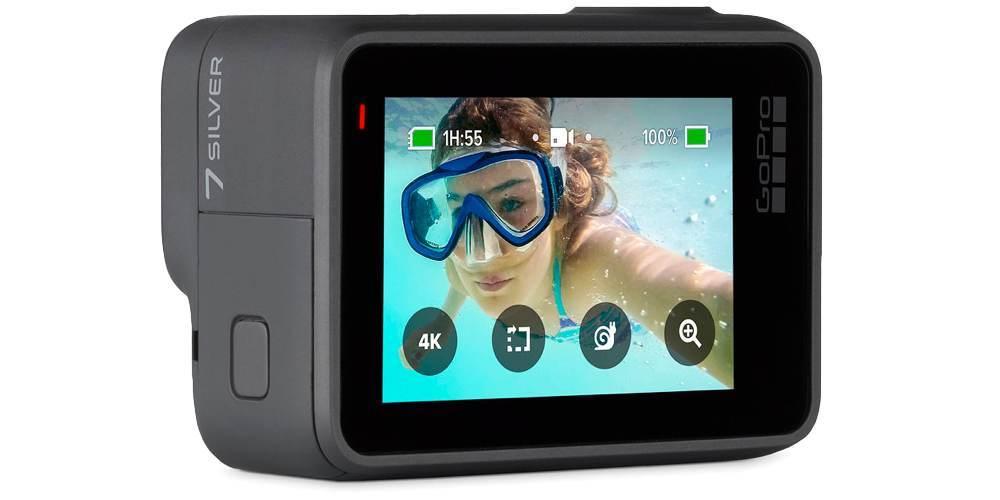Видеокамера GoPro HERO7 Silver Edition + SD Card (CHDSB-602) вид сзади