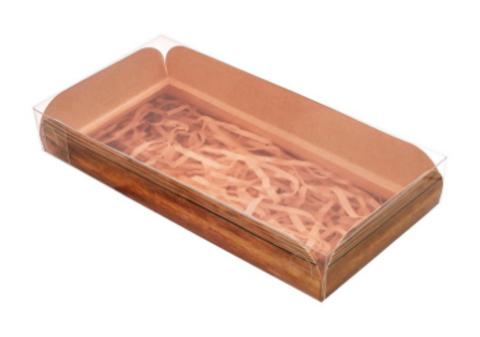 060-0112 Коробка для кондитерских изделий с PVC-крышкой Hand made, 10,5 × 21 × 3 см