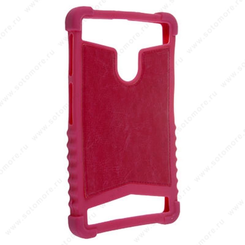 Накладка резиновая универсальная 6 дюймов ярко-розовый