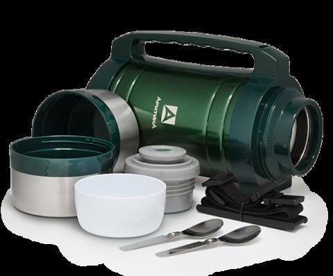 Термос универсальный (для еды и напитков) Арктика (2 литра) с супер-широким горлом, зелёный