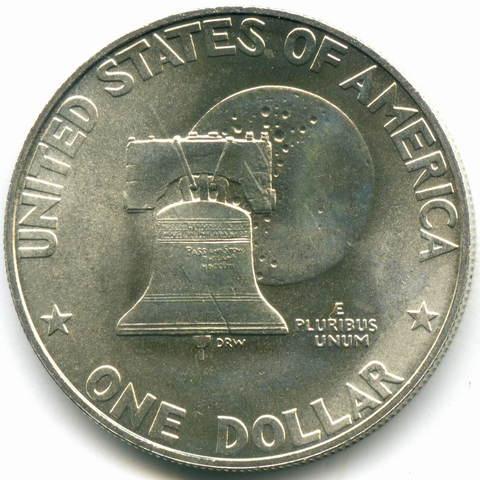 """1 доллар 1976 (S). США""""200-летие Декларации независимости"""" UNC"""