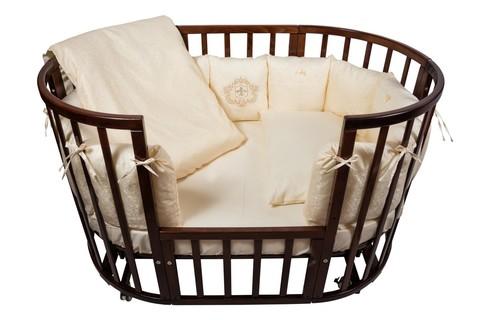 """Комплект в кроватку Nuovita """"Corona"""", 6 предметов (борт из 12 подушек) (бежевый)"""