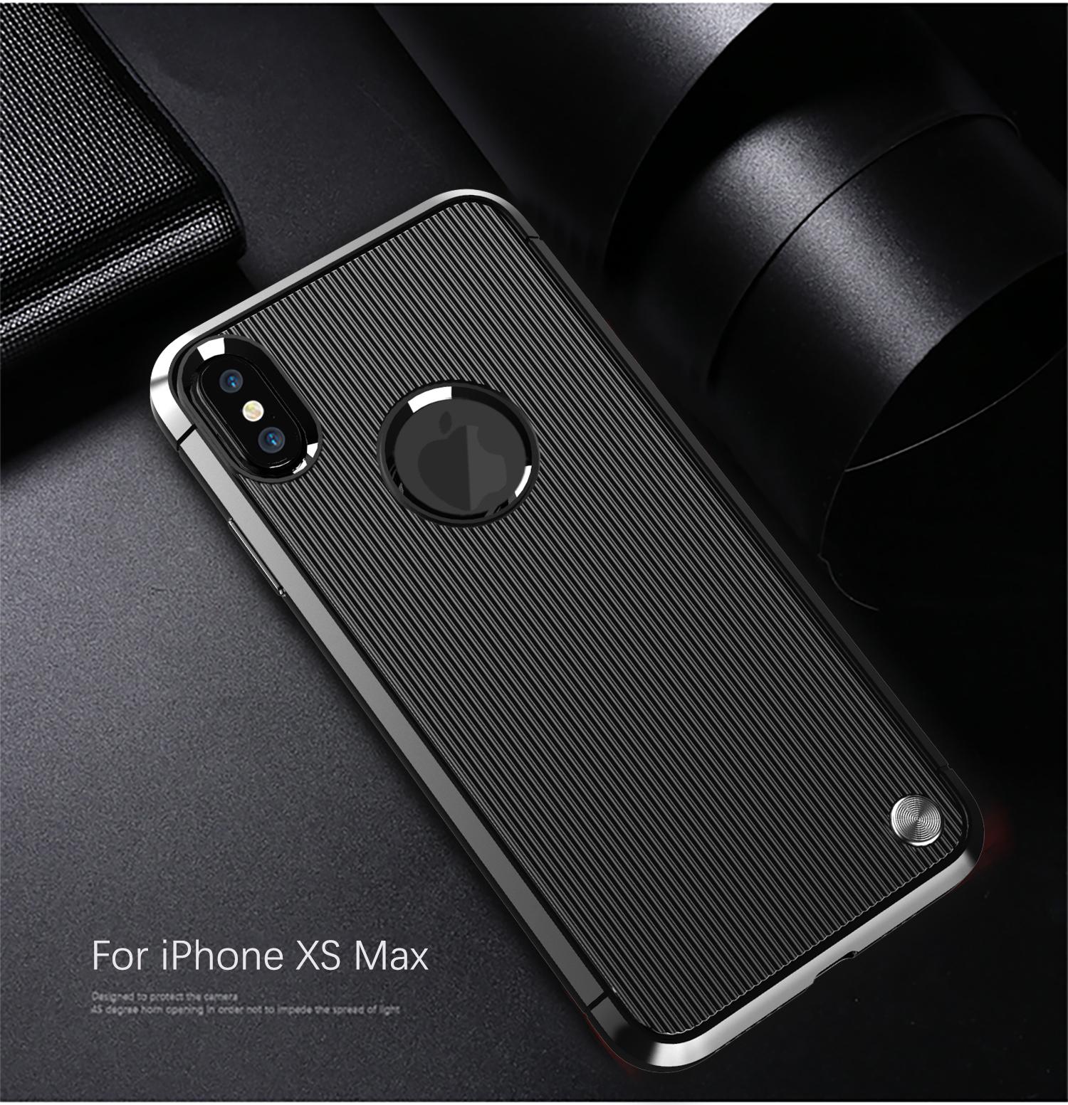 Чехол iPhone XS Max цвет Black (черный), серия Bevel, Caseport