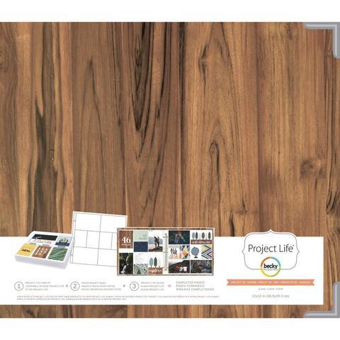 Папка на кольцах для Project Life 30х30. Ламинированная обложка. Project Life D-Ring Album -Daring Edition