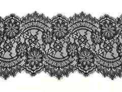 Кружево реснички черное (22х290 см)