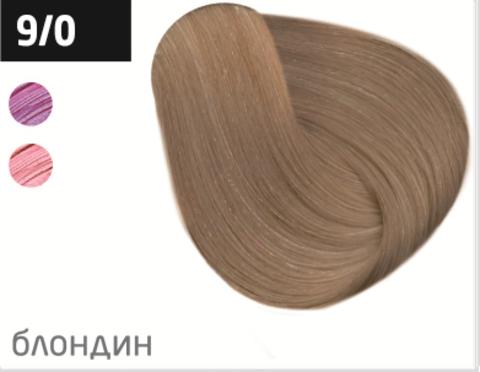 OLLIN color 9/0 блондин 100мл перманентная крем-краска для волос