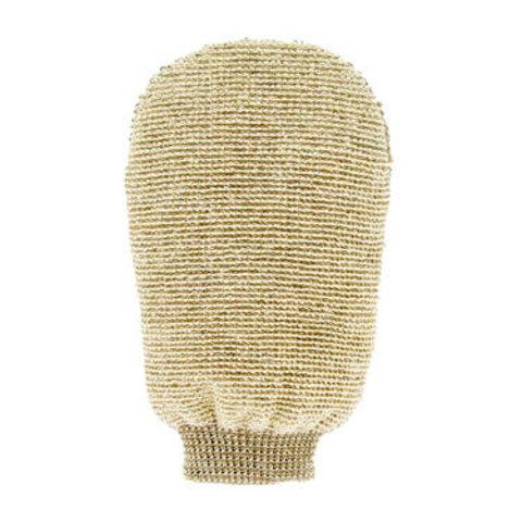 Массажная мочалка-варежка двухсторонняя из органического льна и бамбука Forster's