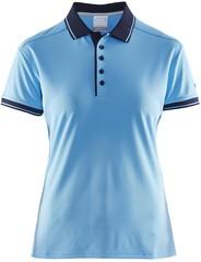 Футболка-поло женская Craft Noble Polo Pique Shirt W голубая
