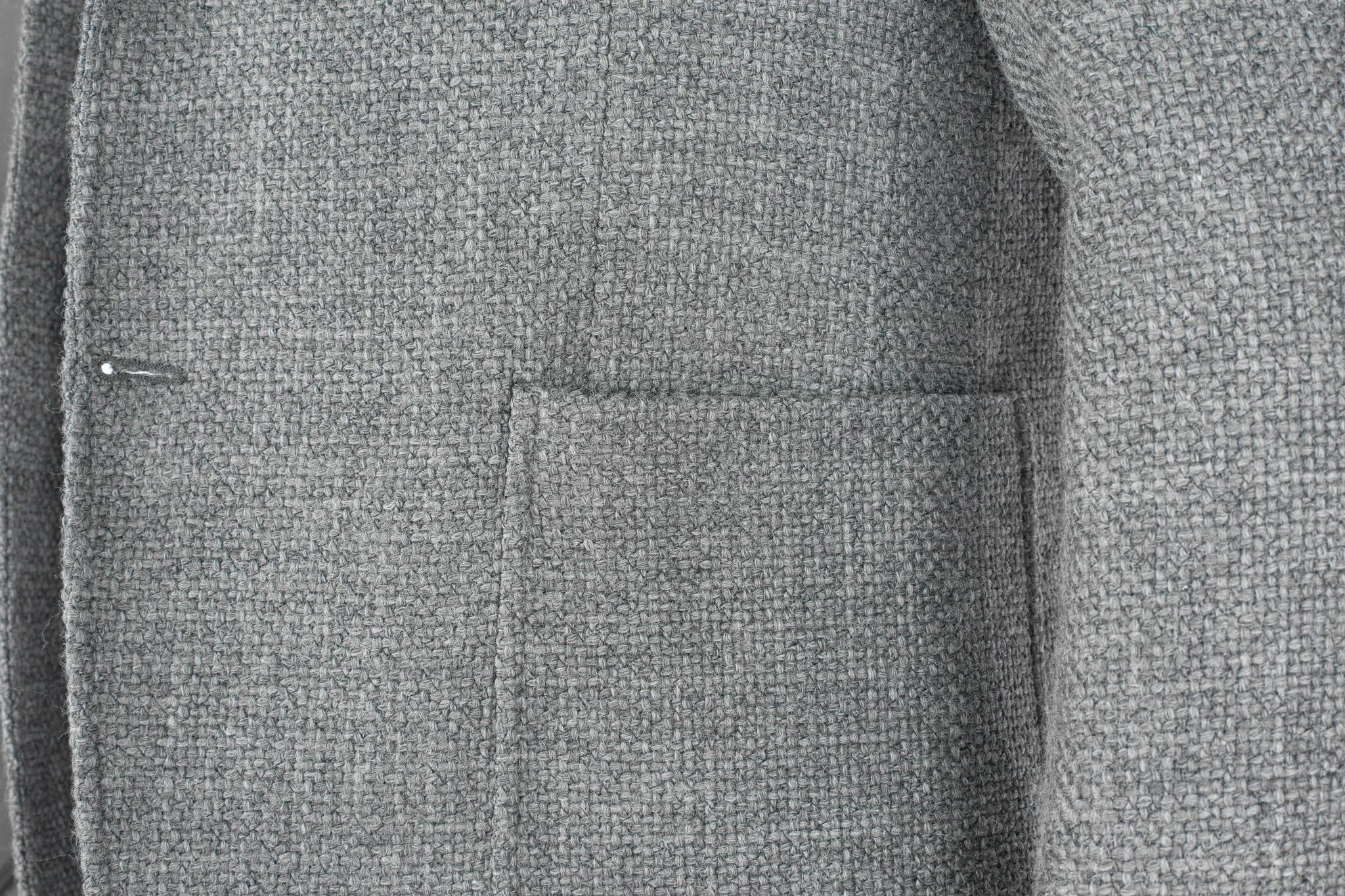 Серый пиджак из смеси шерсти, хлопка и синтетики, накладной карман