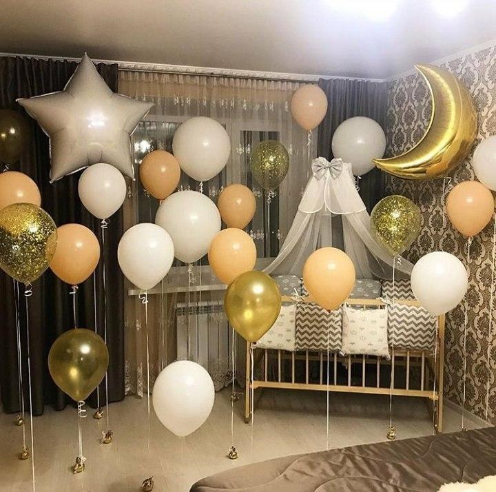 """Шарики для новорождённых Оформление воздушными шарами """"Выписка из роддома"""" loupe.jpg"""