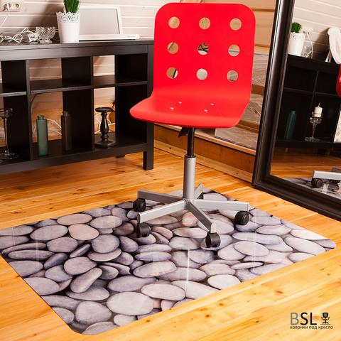 Защитный коврик под кресло 900x1200 мм «галька» СЕРЫЙ