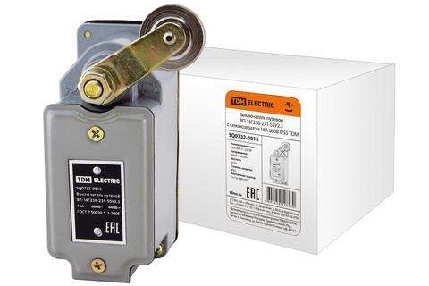 Выключатель путевой ВП-16Г23Б-231-55У2.3 с самовозвратом 16А 660В IP55 TDM