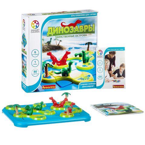 Логическая игра Динозавры. Таинственные острова, Bondibon