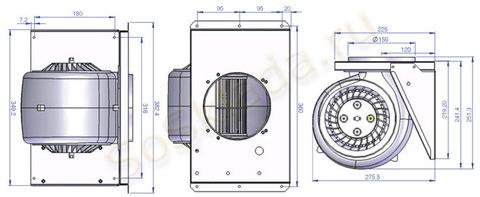 Внешний мотор для вытяжек ILVE A/407/04