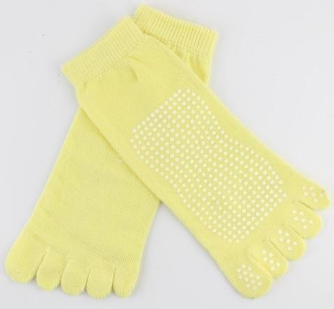 Нескользящие носки (35-39 р.) - 5 пальцев, для йоги, батута, спорта