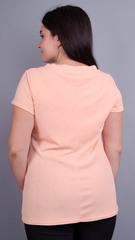 Дона. Жакет+блуза для женщин больших размеров. Персик.
