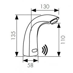 Сенсорный смеситель KAISER Sensor 38411 для раковины схема