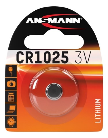 Батарейка литиевая CR1025 ANSMANN 3V