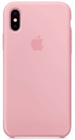 Чехол iPhone XS Max Silicone Case /pink/ пудра 1:1