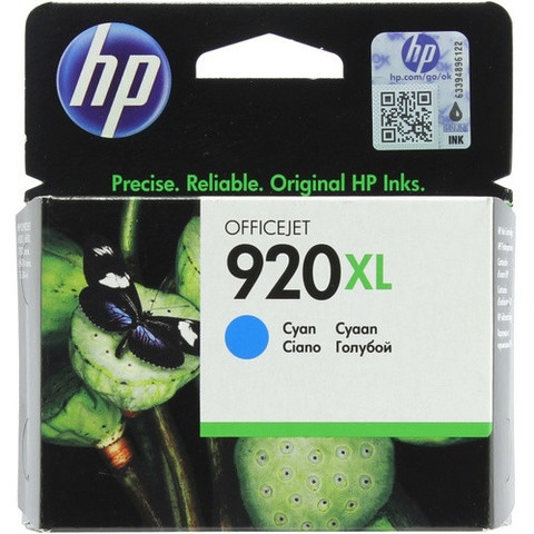 Картридж струйный HP CD972AE (№920XL), голубой