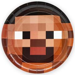 Тарелки (7''/18 см) Пиксели, 6 шт.