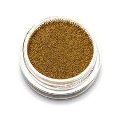 TNL, Бульонки металлические супер мелкие золото 0,2 мм, 3 гр