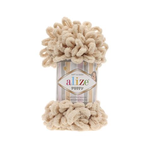 Купить Пряжа Alize Puffy Код цвета 310 Медовый | Интернет-магазин пряжи «Пряха»
