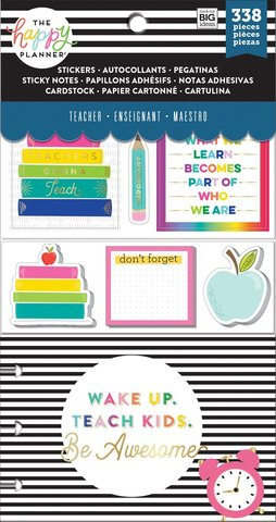 Набор стикерблоков и стекеров Happy Planner Note Cards/Sticky Note Multi Pack - Gonna Teach (teacher), 338 шт.