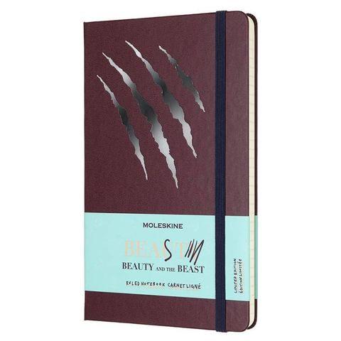 Блокнот Moleskine Limited Edition BEAUTY & BEAST LEBB01QP060BS Large 130х210мм 240стр. линейка Scratch