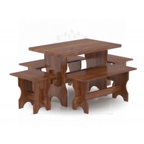 Комплект мебели (стол, скамейки) - 4 чел. (лиственница морёная)