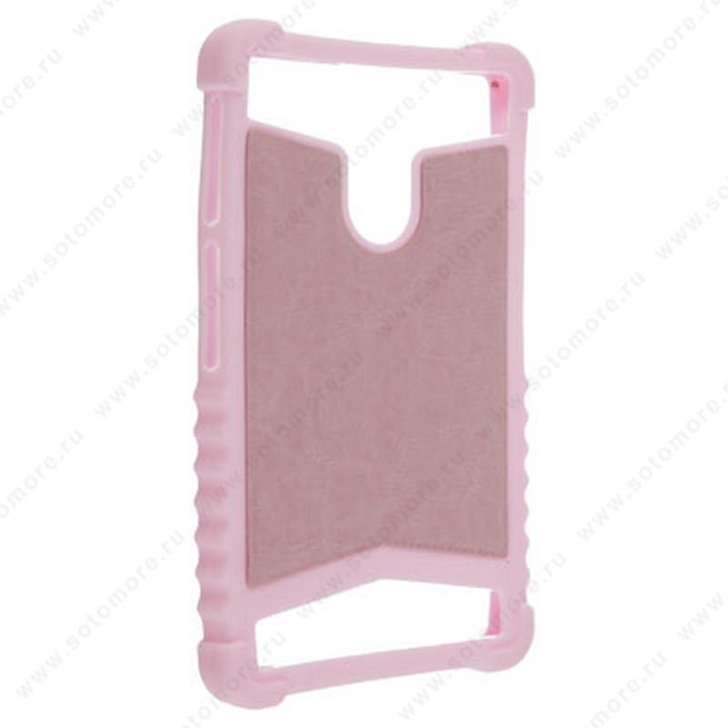 Накладка резиновая универсальная 6 дюймов светло-розовый