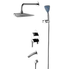 Смеситель Lemark Mars LM3522C для ванны и душа встраиваемый
