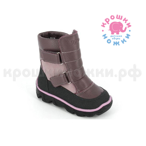 Зимние ботинки, цвет лиловый, Тотто 452