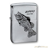 Зажигалка ZIPPO Black Bass Brushed Chrome (200 BLACK BASS)