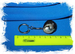 Брелок с морской ракушкой для ключей