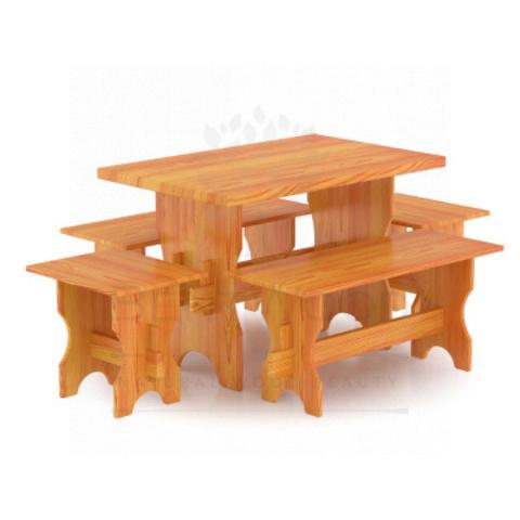 Комплект мебели (стол, скамейки) - 4 чел. (лиственница натуральная)