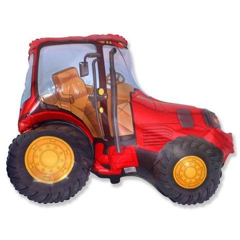 Фольгированный шар Трактор красный
