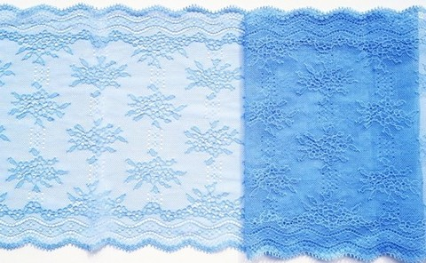 Эластичное кружево, 21 см, голубой, (Арт: EK-1067), м