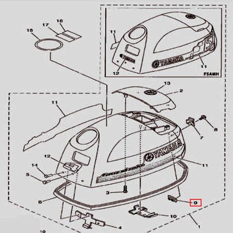 Пластина крепежная для лодочного мотора F5 Sea-PRO(1-9)