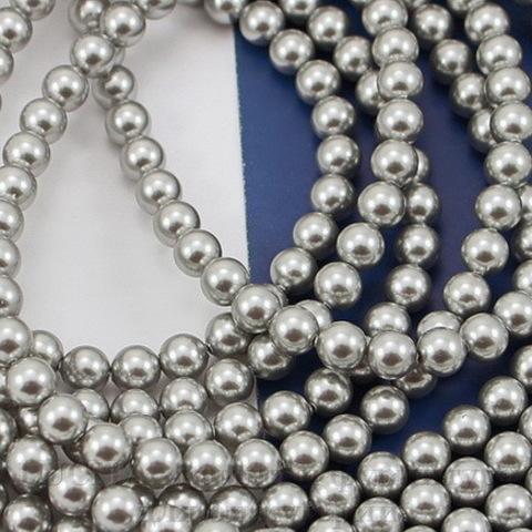 5810 Хрустальный жемчуг Сваровски Crystal Light Grey круглый 4 мм,  10 штук (Картинка)