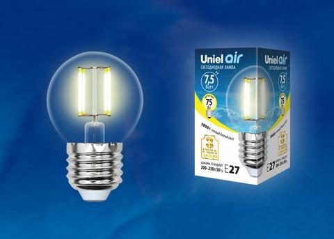 LED-G45-7,5W/WW/E27/CL GLA01TR Лампа светодиодная. Форма