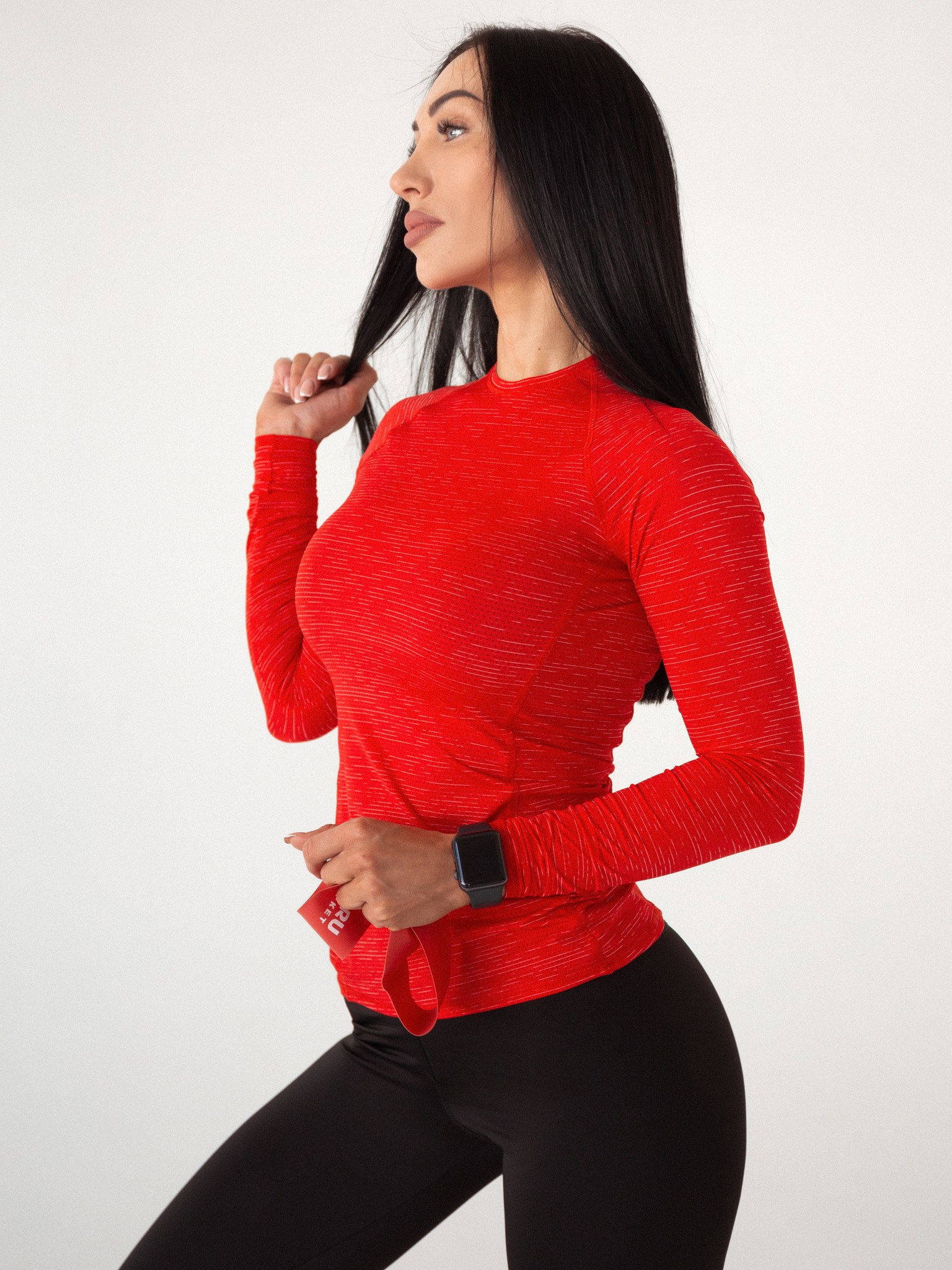 Женский рашгард Lion gym MAXI PERFORATION RASHGUARD RED