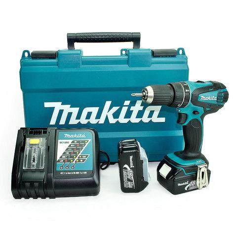 Аккумуляторная ударная дрель-шуруповёрт Makita DHP456RFE