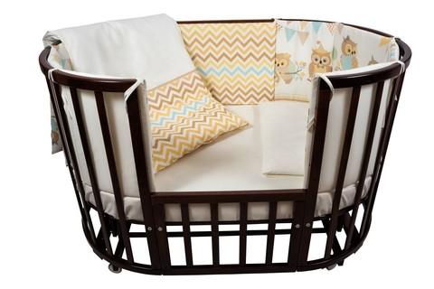 """Комплект для кроватки Nuovita """"Gufi"""", 6 предметов. (beige / бежевый)"""